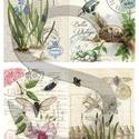 Botanical kollekció 3., Papír, Decoupage papír, A 4-s méretű rizsnyomat, vékony 20 gr-s rizspapíron, découpage technikához. Az eredeti nyomatot vízj..., Alkotók boltja