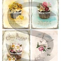 Vintage sorozat: Romantikus muffinok, Papír, Decoupage papír, Decoupage, szalvétatechnika, Decoupage minták, A 4-s méretű rizsnyomat, vékony 20 gr-s rizspapíron, découpage technikához. Az eredeti nyomatot víz..., Alkotók boltja
