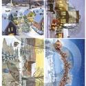 Karácsonyi sorozat: Karácsonyi meseváros, Papír, Decoupage papír, A 4-s méretű rizsnyomat, vékony 20 gr-s rizspapíron, découpage technikához. Az eredeti nyomatot vízj..., Alkotók boltja