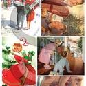 Karácsonyi sorozat: Karácsonyi retro, Papír, Decoupage papír, A 4-s méretű rizsnyomat, vékony 20 gr-s rizspapíron, découpage technikához. Az eredeti nyomatot vízj..., Alkotók boltja