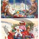 Karácsonyi sorozat: Karácsonyi mackók, Papír, Decoupage papír, A 4-s méretű rizsnyomat, vékony 20 gr-s rizspapíron, découpage technikához. Az eredeti nyomatot vízj..., Alkotók boltja