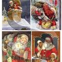 Karácsonyi sorozat: Mikulás, Papír, Decoupage papír, A 4-s méretű rizsnyomat, vékony 20 gr-s rizspapíron, découpage technikához. Az eredeti nyomatot vízj..., Alkotók boltja