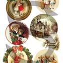 Karácsonyi sorozat: Karácsonyi gömbök, Papír, Decoupage papír, A 4-s méretű rizsnyomat, vékony 20 gr-s rizspapíron, découpage technikához. Az eredeti nyomatot vízj..., Alkotók boltja