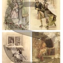 Karácsonyi sorozat: Téli romantika, Papír, Decoupage papír, A 4-s méretű rizsnyomat, vékony 20 gr-s rizspapíron, découpage technikához. Az eredeti nyomatot vízj..., Alkotók boltja