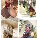 Karácsonyi sorozat: Téli romantika 2., Papír, Decoupage papír, A 4-s méretű rizsnyomat, vékony 20 gr-s rizspapíron, découpage technikához. Az eredeti nyomatot vízj..., Alkotók boltja