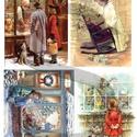Karácsonyi sorozat: Karácsonyi játékbolt, Papír, Decoupage papír, A 4-s méretű rizsnyomat, vékony 20 gr-s rizspapíron, découpage technikához. Az eredeti nyomatot vízj..., Alkotók boltja