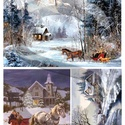 Karácsonyi sorozat: Lovasszán, Papír, Decoupage papír, A 4-s méretű rizsnyomat, vékony 20 gr-s rizspapíron, découpage technikához. Az eredeti nyomatot vízj..., Alkotók boltja