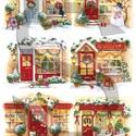 Karácsonyi sorozat: Karácsonyi boltocskák, Papír, Decoupage papír, A 4-s méretű rizsnyomat, vékony 20 gr-s rizspapíron, découpage technikához. Az eredeti nyomatot vízj..., Alkotók boltja