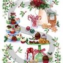 Karácsonyi sorozat: Karácsonyi finomságok, Papír, Decoupage papír, Decoupage, szalvétatechnika, Decoupage minták, A 4-s méretű rizsnyomat, vékony 20 gr-s rizspapíron, découpage technikához. Az eredeti nyomatot víz..., Alkotók boltja