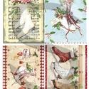 Karácsonyi sorozat: Karácsonyi korcsolyák, Papír, Decoupage papír, Decoupage, szalvétatechnika, Decoupage minták, A 4-s méretű rizsnyomat, vékony 20 gr-s rizspapíron, découpage technikához. Az eredeti nyomatot víz..., Alkotók boltja