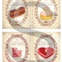 Vintage sorozat: Párizsi cukrászsütemények, Papír, Decoupage papír, Decoupage, szalvétatechnika, Decoupage minták, A 4-s méretű rizsnyomat, vékony 20 gr-s rizspapíron, découpage technikához. Az eredeti nyomatot víz..., Alkotók boltja