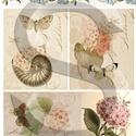 Virág sorozat: Hortenzia, Papír, Decoupage papír, A 4-s méretű rizsnyomat, vékony 20 gr-s rizspapíron, découpage technikához. Az eredeti nyomato..., Alkotók boltja