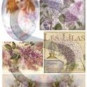 Virág sorozat: Orgona, Papír, Decoupage papír, A 4-s méretű rizsnyomat, vékony 20 gr-s rizspapíron, découpage technikához. Az eredeti nyomato..., Alkotók boltja
