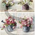 Akvarell sorozat: Virágcsokrok, Papír, Decoupage papír, Decoupage, szalvétatechnika, Decoupage minták, A 4-s méretű rizsnyomat, vékony 20 gr-s rizspapíron, découpage technikához. Az eredeti nyomatot víz..., Alkotók boltja
