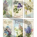 Virágos parfümcímkék, Papír, Decoupage papír, Decoupage, szalvétatechnika, Decoupage minták, A 4-s méretű rizsnyomat, vékony 20 gr-s rizspapíron, découpage technikához. Az eredeti nyomatot víz..., Alkotók boltja