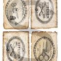 Vintage címkék 5., Papír, Decoupage papír, A 4-s méretű rizsnyomat, vékony 20 gr-s rizspapíron, découpage technikához. Az eredeti nyomato..., Alkotók boltja