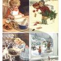 Karácsonyi sorozat: Karácsonyi sütik, Papír, Decoupage papír, A 4-s méretű rizsnyomat, vékony 20 gr-s rizspapíron, découpage technikához. Az eredeti nyomatot vízj..., Alkotók boltja