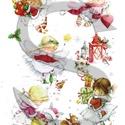 Karácsonyi sorozat: Karácsonyi tündérkék, Papír, Decoupage papír, A 4-s méretű rizsnyomat, vékony 20 gr-s rizspapíron, découpage technikához. Az eredeti nyomatot vízj..., Alkotók boltja