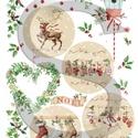 Karácsonyi sorozat: Karácsonyi country gömbök, Papír, Decoupage papír, Alkotók boltja