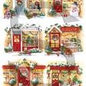 Karácsonyi sorozat: Karácsonyi boltocskák, Papír, Decoupage papír, A 4-s méretű rizsnyomat, vékony 20 gr-s rizspapíron, découpage technikához. Az eredeti nyomato..., Alkotók boltja