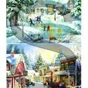 Karácsonyi sorozat: Csodás téli tájképek 2., Papír, Decoupage papír, A 4-s méretű rizsnyomat, vékony 20 gr-s rizspapíron, découpage technikához. Az eredeti nyomato..., Alkotók boltja