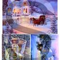Karácsonyi sorozat: Csodás téli tájképek 3., Papír, Decoupage papír, , Alkotók boltja