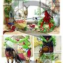 Karácsonyi sorozat : Karácsony állatokkal, Papír, Decoupage papír, Decoupage, szalvétatechnika, Decoupage minták, A 4-s méretű rizsnyomat, vékony 20 gr-s rizspapíron, découpage technikához. Az eredeti nyomatot víz..., Alkotók boltja
