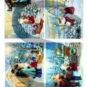 Karácsonyi sorozat: Piros ruhás kislány karácsonyi kalandjai 3., Papír, Decoupage papír, Decoupage, szalvétatechnika, Decoupage minták, A 4-s méretű rizsnyomat, vékony 20 gr-s rizspapíron, découpage technikához. Az eredeti nyomatot víz..., Alkotók boltja