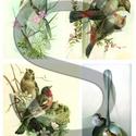 Tavaszi madárdal, Papír, Decoupage papír, A 4-s méretű rizsnyomat, vékony 20 gr-s rizspapíron, découpage technikához. Az eredeti nyomato..., Alkotók boltja