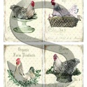 Vintage sorozat: Csirkefarm 2., Papír, Decoupage papír, Decoupage, szalvétatechnika, Decoupage minták, A 4-s méretű rizsnyomat, vékony 20 gr-s rizspapíron, découpage technikához. Az eredeti nyomatot víz..., Alkotók boltja