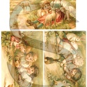 Húsvéti sorozat: Húsvét gyerekekkel 1., Papír, Decoupage papír, Decoupage, szalvétatechnika, Decoupage minták, A 4-s méretű rizsnyomat, vékony 20 gr-s rizspapíron, découpage technikához. Az eredeti nyomatot víz..., Alkotók boltja
