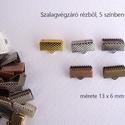 Szalagvég 13 mm, Gyöngy, ékszerkellék, Egyéb alkatrész, Szalagok végének eldolgozására szolgáló végzáró. Mérete 13 x 6 mm (12-13 mm széles szalag..., Alkotók boltja