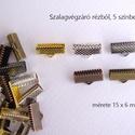 Szalagvég 15 mm, Gyöngy, ékszerkellék, Egyéb alkatrész, Szalagok végének eldolgozására szolgáló végzáró. Mérete 15 x 6 mm (14-15 mm széles szalag..., Alkotók boltja