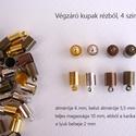 Végzáró kupak, Gyöngy, ékszerkellék, Egyéb alkatrész, Ékszerkészítés, Szerelékek, Végzáró kupak Anyaga réz 4 színben: arany, ezüst, sárgaréz, vörösréz mérete 10 x 6 mm Az ár 1 darab..., Alkotók boltja
