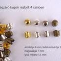 Végzáró kupak, Gyöngy, ékszerkellék, Egyéb alkatrész, Ékszerkészítés, Szerelékek, Végzáró kupak Anyaga réz 4 színben: arany, ezüst, antikezüst, sárgaréz mérete 7 x 6 mm Az ár 1 dara..., Alkotók boltja