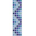 Kék négyzet rengeteg - peyote minta, Csináld magad leírások, Szövés, Ékszerkészítés, Gyöngy, Egyszemes peyote minta.  A mérete 3,5 cm x 18,6 cm.  A mintát PDF formátumban küldöm a minta árának..., Alkotók boltja