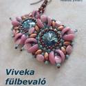 Fűzésminta - Viveka fülbevaló, Csináld magad leírások, Szabásminta, útmutató, 8 oldalas pdf fálj a szükséges alapanyagok listájával, részletes leírással és 17 fotóval a fűzésmene..., Alkotók boltja