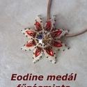 Fűzésminta - Eodine medál, DIY (leírások), Szabásminta, útmutató, 14 oldalas pdf fálj a szükséges alapanyagok listájával, részletes leírással és 42 fotóval ..., Alkotók boltja