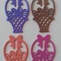 Dekorgumi kosárka dísz (12db/cs), Dekorációs kellékek, Dekorgumi, Sima dekorgumi kosárka dísz Mérete 6,5 cm x 4 cm vastagság: 0,2 cm  Vegyes színű csomag: 12 különbö..., Alkotók boltja