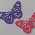 Dekorgumi pillangó dísz  (10 db/cs), Dekorációs kellékek, Dekorgumi, Sima dekorgumi pillangó dísz  Mérete: 5,5 cm x 8,5 cm vastagság: 0,2 cm  Vegyes színű csomag: 10 kü..., Alkotók boltja