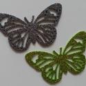 Glitteres dekorgumi pillangó dísz (8 db/cs), Dekorációs kellékek, Dekorgumi, Glitteres dekorgumi pillangó dísz Mérete: 5,5 cm x 8,5 cm vastagság: 0,2 cm  Vegyes színű csomag: 8..., Alkotók boltja