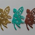 Glitteres dekorgumi (5 db) angyalka-tündér, Papír, Scrapbook, Dekorgumi, Az ár 5 db díszre vonatkozik. Mérete: kb. 11x6cm A dekorgumi vastagsága: kb. 0,2 cm  Vegyes színű c..., Alkotók boltja