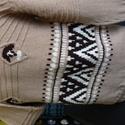 Férfi pulóver mintás, Ruha, divat, cipő, Férfi ruha, Kötés, Gyapjú tartalmának köszönhetően meleg viseletet nyújt. A különleges eljárással készült Schurwolle ö..., Meska