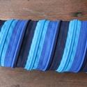 tolltartó  kék cipzárspirál, Táska, Pénztárca, tok, tárca, Varrás, Tolltartó (kb. 21x7cm)  Ezek a tolltartók egyediek, praktikusak és szépek. Nincs többé unalom a tan..., Meska