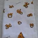 Garfield mintás vászon, Textil, Vászon, Fehér alapon Garfield mintás pamut vászon. 140 cm széles az anyag és 0.95 m hosszú. , Alkotók boltja