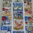Tanyasi mintás vászon, Textil, Vászon, TANYÁN élő állatokkal teli pamut vászon. 90 cm széles az anyag és 1 m hosszú. , Alkotók boltja