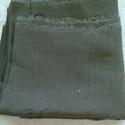 Sötét Khaki lenvászon, Textil, Vászon, Sötét khakizöld lenvászon anyag 140 cm széles az anyag és 0,7 m hosszú. , Alkotók boltja