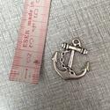 Fém vasmacska  fityegő,medál, Gyöngy, ékszerkellék, Egyéb alkatrész, Fém vasmacska ezüst színben.2,8 cm hosszú., Alkotók boltja