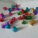 Gyöngykupak, Díszíthető tárgyak, Gyöngy, ékszerkellék, Ékszerkészítés, Vegyes színekben,gyöngykupakok.70 db/csomag., Alkotók boltja