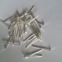 Talpas szerelő pálca , Gyöngy, ékszerkellék, Ezüst színű talpas szerelő pálca.1 csomag 10 db . Méret: 25 mm., Alkotók boltja